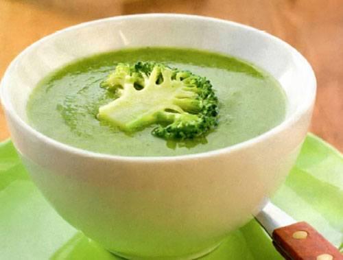 суп с брокколи и цветной капустой с курицей