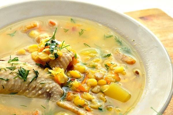 Суп гороховый из курицы рецепт