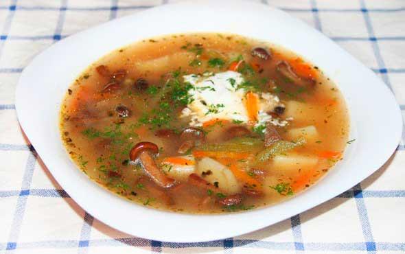 как сварить грибной суп из шампиньонов рецепт с фото