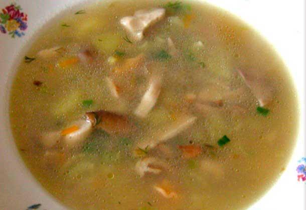 рецепты грибного супа из куриного бульона