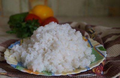 как приготовить круглый рис на гарнир рассыпчатый