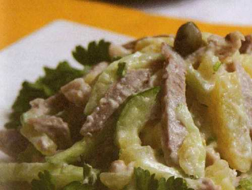 Салат изумрудный россыпь с киви рецепт 64