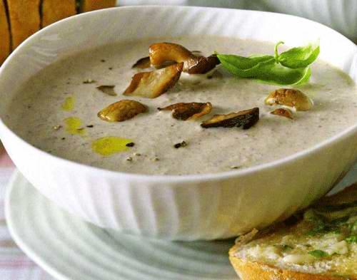 Грибной крем-суп из лесных грибов рецепт