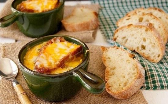 рецепт лукового супа с плавленным сыром фото рецепт
