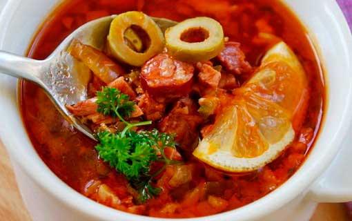 Рецепт приготовления вкусной солянки