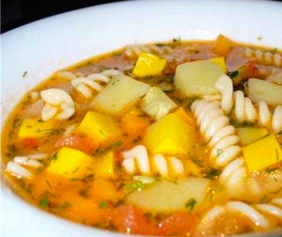 суп з макаронами рецепт