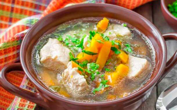 Легкий суп с мясом