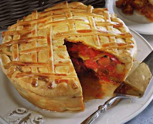 Рататуй пирог рецепт с фото