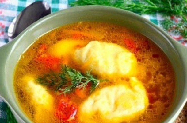 суп с клецками из говядины рецепт с фото