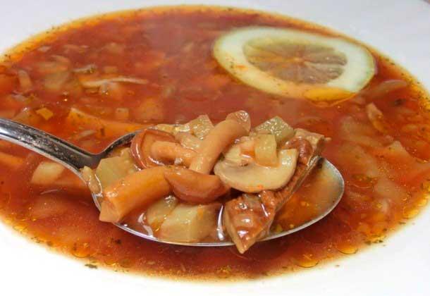 солянка с грибами и капустой рецепт суп