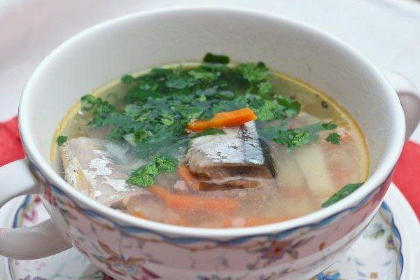 Рыбный суп из консервов сайры рецепт сколько воды