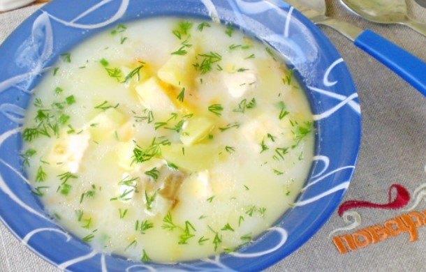 рецепт супа с плавленным сыром и консервами рыбными