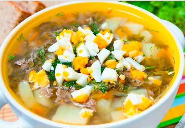 Рецепт щавелевого супа с курицей и яйцом рецепт пошаговый