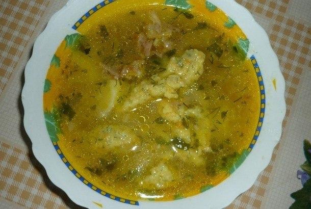 рецепт суп из говядины с клецками рецепты
