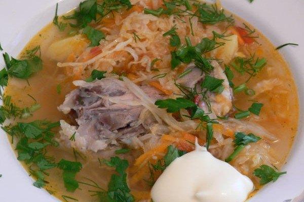 рецепт супа из капусты квашеной капусты