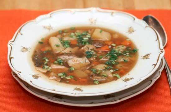 шампиньонов Суп замороженных из