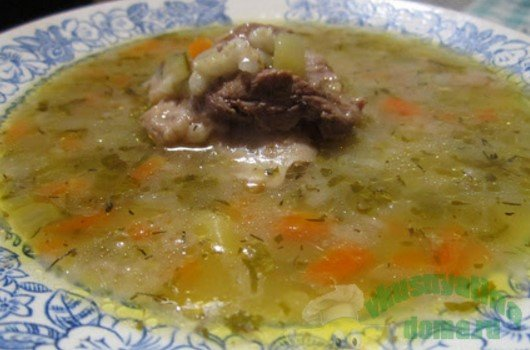 суп рассольник с перловкой рецепт приготовления с фото