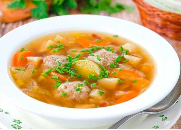 суп с фрикадельками рецепт с фото из фарша свинины