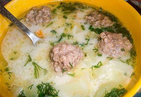 рецепт супа с вермишелью и плавленным сыром