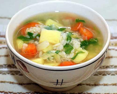 Как сварить рис в супе