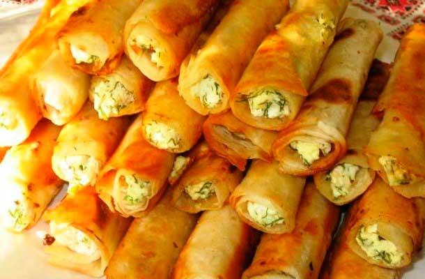 Трубочки с картофельной начинкой – кулинарный рецепт