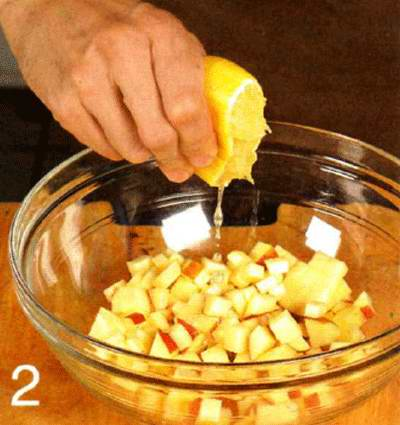 Макаронный салат  с яблоками
