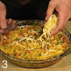 Сырная запеканка с капустой