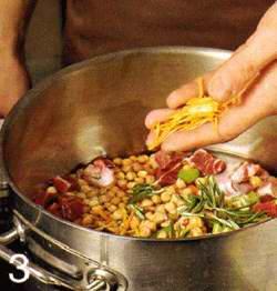 Густой суп из говядины и нута