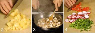 Салат с рисом и грибами в китайском стиле