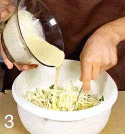 Салат  из кольраби с горчичной заправкой