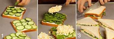 Английский сэндвич с яйцом